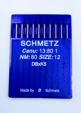SCHMETZ DB*K5 №80 .Голки для вишивальних машин Riсoma.